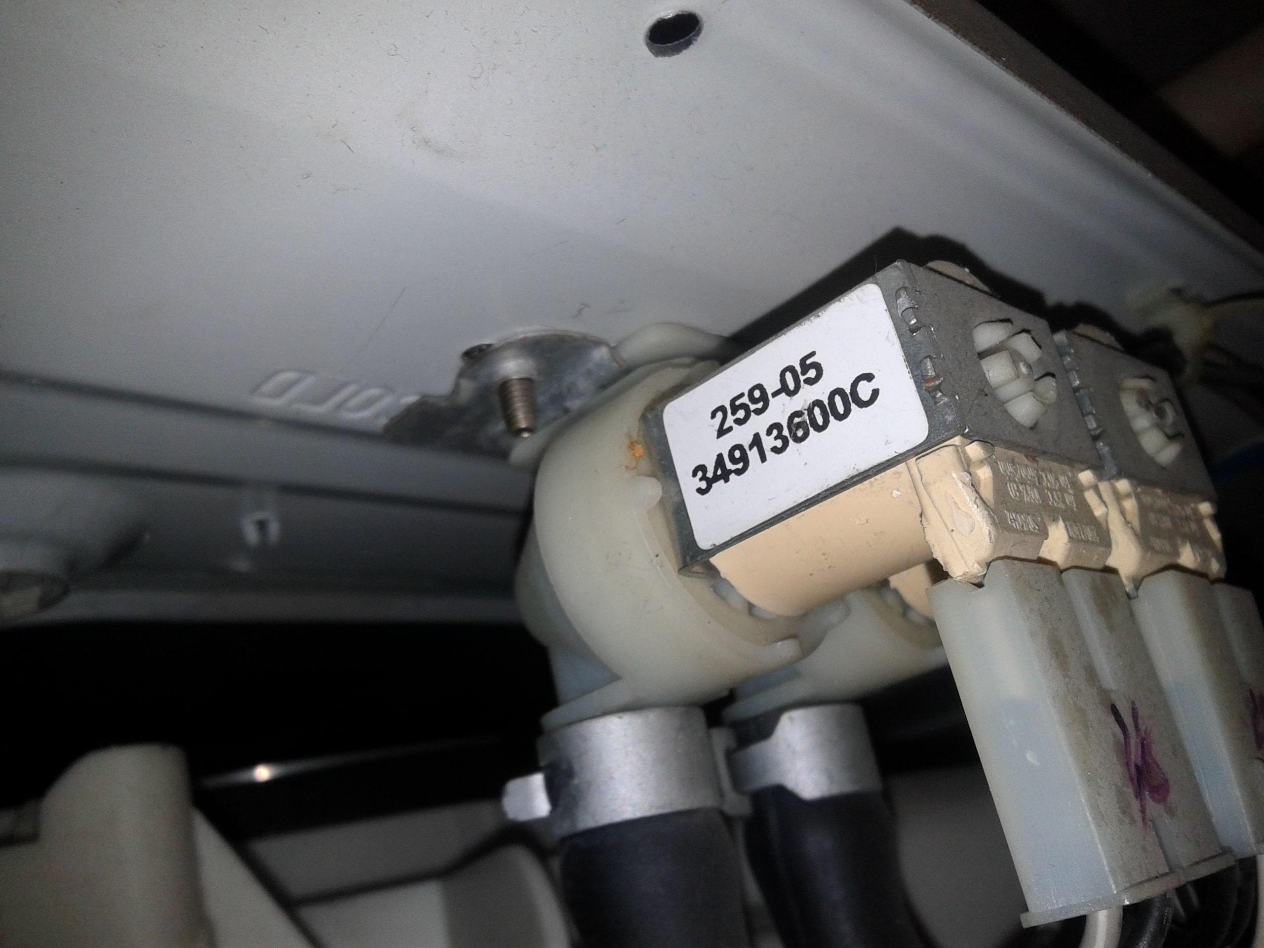 Ремонт впускного клапана стиральной машины LG
